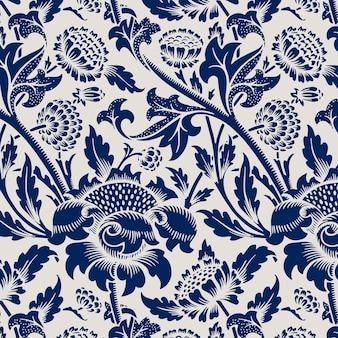 Decorative vintage flower seamless pattern background