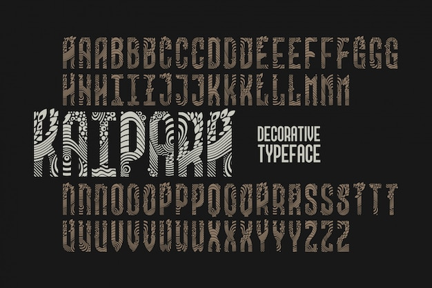 장식 빈티지 글꼴 세트