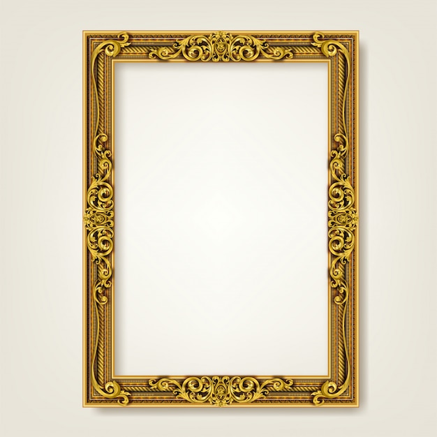 Decorative vintage frame and border