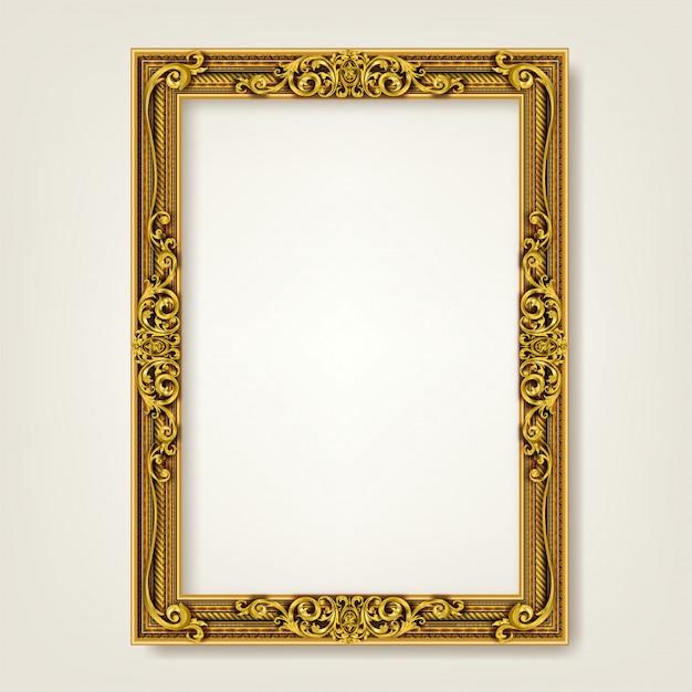 Decorative vintage frame and border Premium Vector