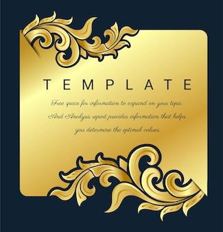 Decorative  vintage frame for invitations