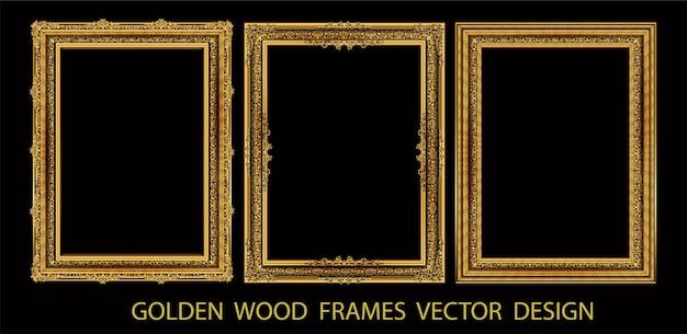装飾的なビンテージフレームと枠線