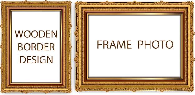 Decorative vintage frames and borders set