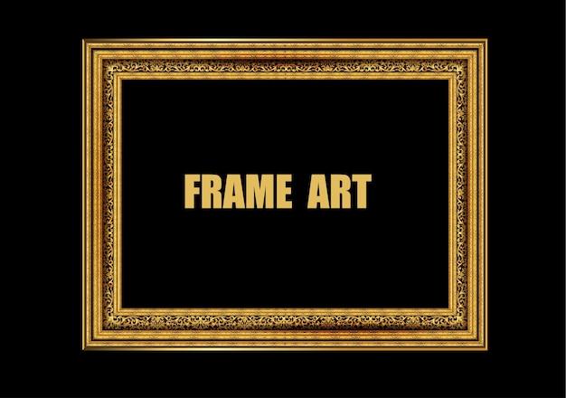 Decorative vintage photo frame and border