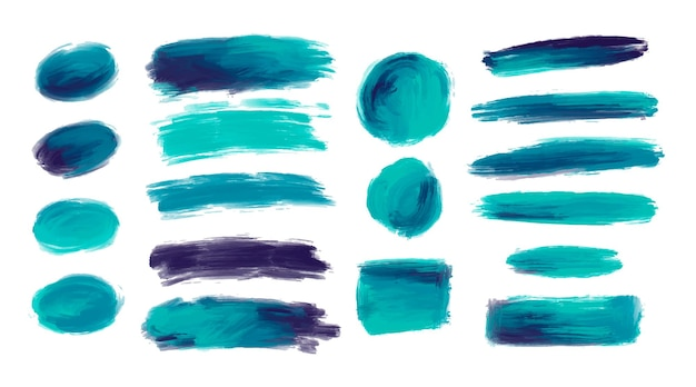 Set di forme di tratti di pennello acquerello decorativo