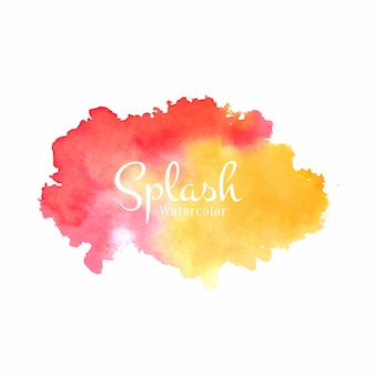 Decorative watercolor splash design background