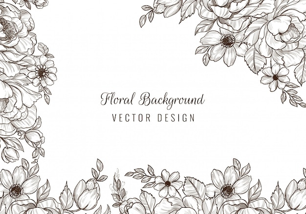 Decorative wedding floral background