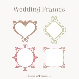 装飾の結婚式のフレームコレクション