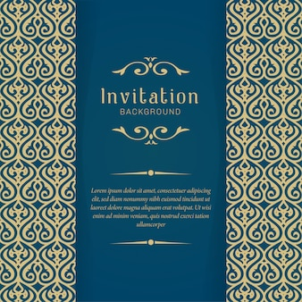 Decorative wedding invitation cards