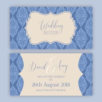 Decorative wedding invitation