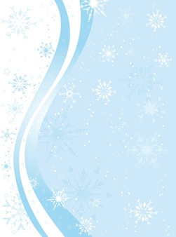 Decorative winter background with snowflakes and stars