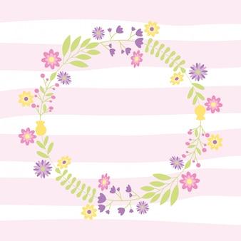 花と装飾的な花輪