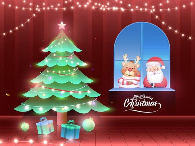 선물 상자 장식 크리스마스 트리