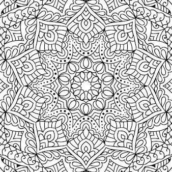 Decorative zentangle colouring book page