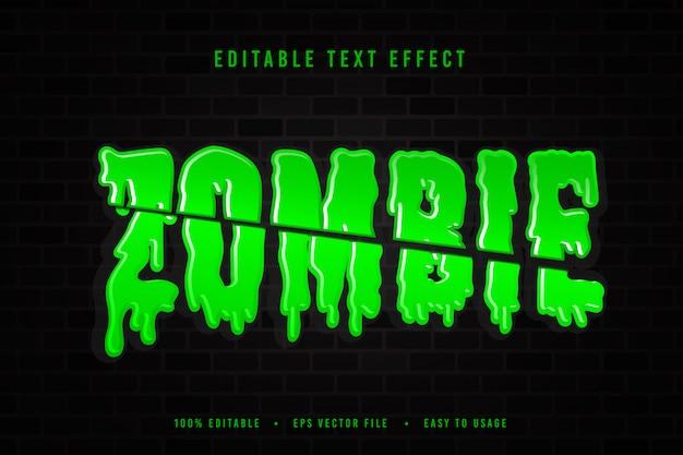 Decorative zombie font illustration