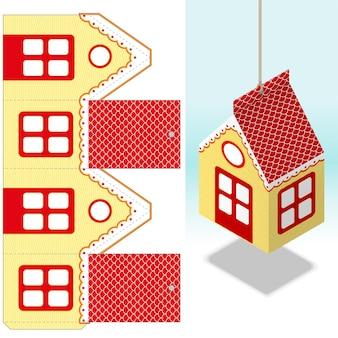 装飾的な吊り紙の家の装飾の実物大のダイカット