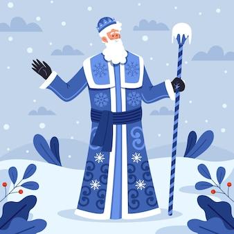 Дед мороз в плоском дизайне