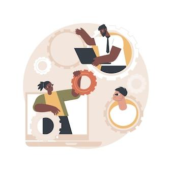 Illustrazione della squadra dedicata