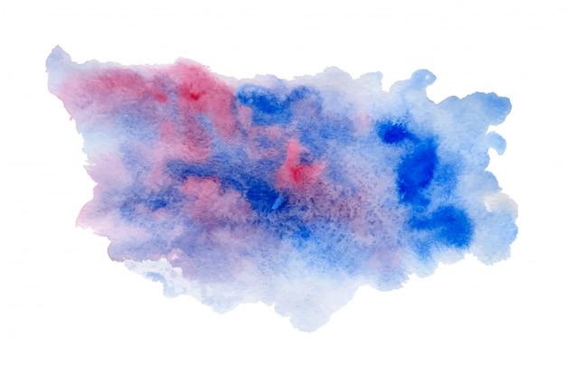 深い青とピンクの水彩ブロブ