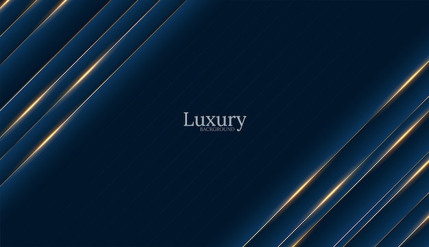 Deep blue luxury gold background