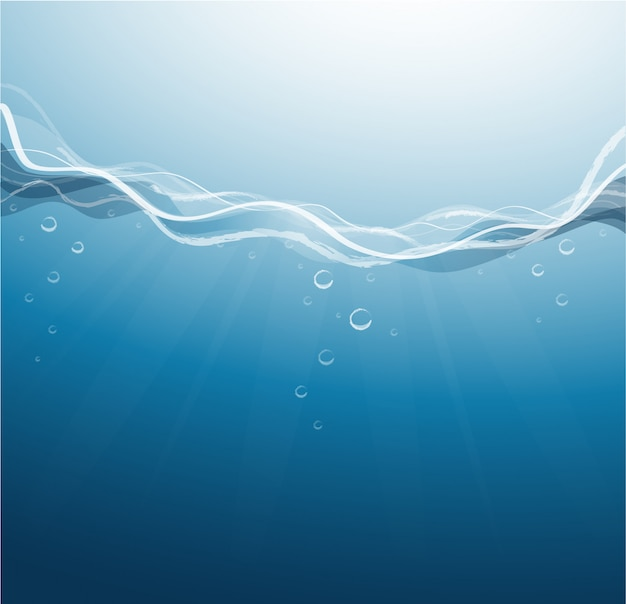 Deep blue sea background vector