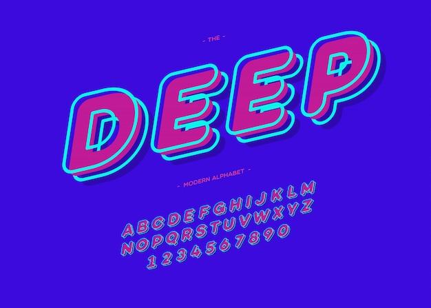 ディープフォント3dボールドタイポグラフィ