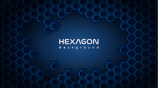 Deep hexagon background