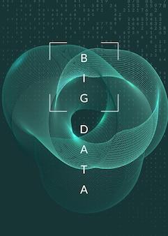 Концепция глубокого обучения. абстрактный фон цифровых технологий. искусственный интеллект и большие данные. технический визуал для информационного шаблона. футуристический фон глубокого обучения.