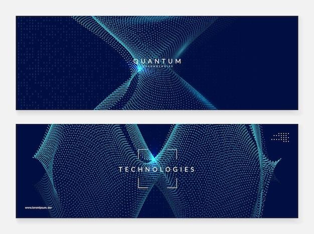 ディープラーニングの概念。デジタル技術の抽象的な背景。人工知能とビッグデータ。画面テンプレートのテックビジュアル。未来的なディープラーニングの背景。