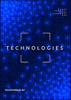 Концепция глубокого обучения. абстрактный фон цифровых технологий. искусственный интеллект и большие данные.