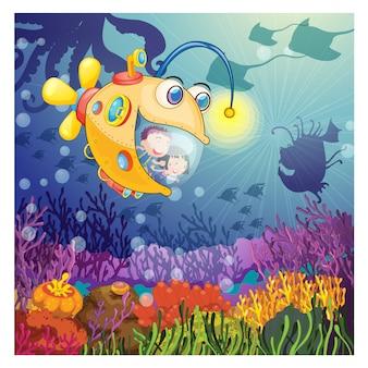 Deep ocean background design