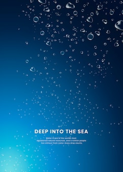 Deep sea background