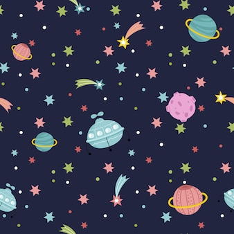 Deep space seamless pattern