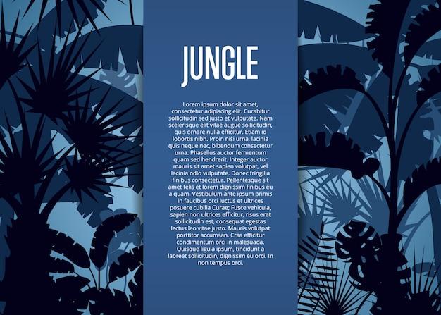 Deep tropical jungle template background