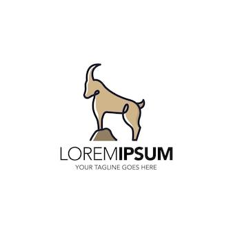 Шаблон логотипа линии оленей