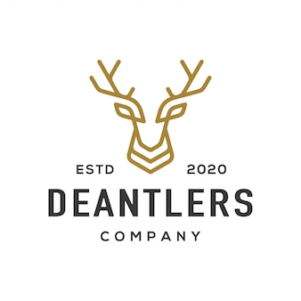 Deer antler logo and icon.