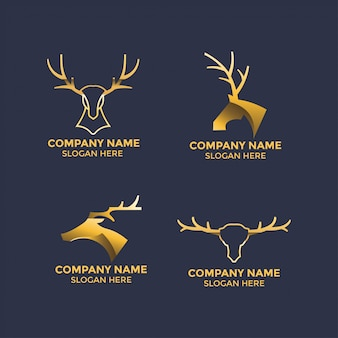 Deer antlers illustration design for logo and mascot template