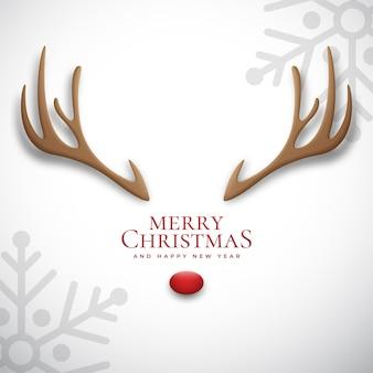 Deer antlers for merry christmas illustration