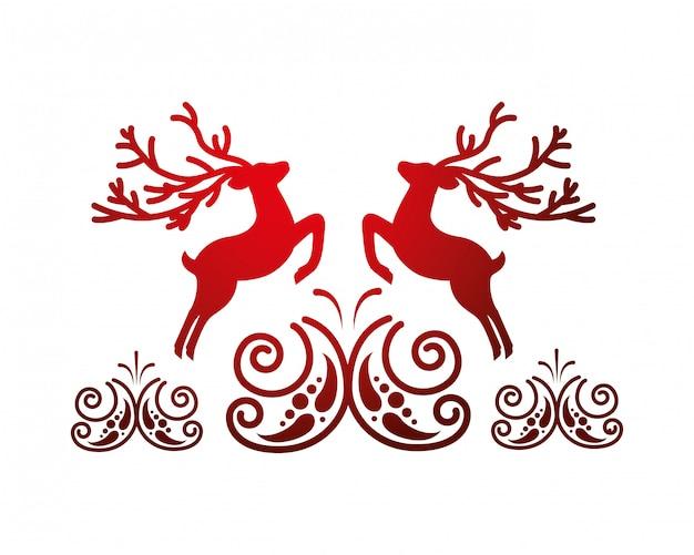 Deer card decoration