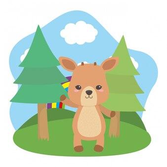 Deer cartoon  vector illustrator