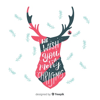 Deer christmas background