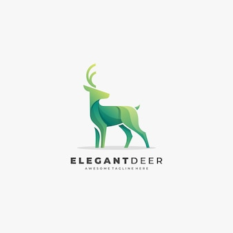 Deer color geometric logo premium template