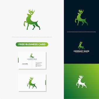 Deer creative logo design concept vector template