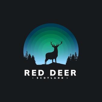 マスコットの鹿のデザインテンプレート