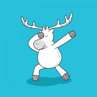 Deer doodle cartoon.
