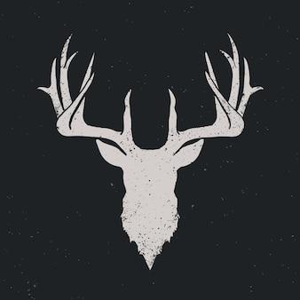 Deer head invert silhouette