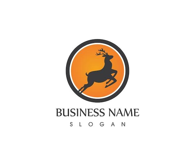 Deer head logo design template