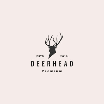 Deer head logo icon illustration vector
