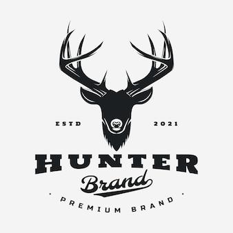 Deer head logo illustration