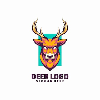 鹿の頭のロゴ